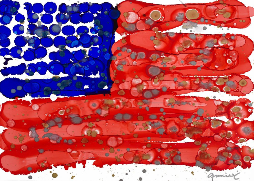 I Love the USA Lovitude Soul Painting by Anne Pryor