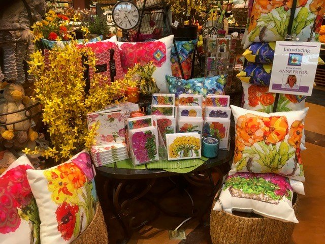 Lovitude Soul Painting Products Sold in Retailers Pillows and Cards by Anne Pryor