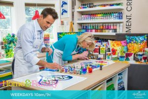 Lovitude Soul Painting on the Hallmark Channel Home and Family TV Show April 2019 with Cameron Mathison and Anne Pryor
