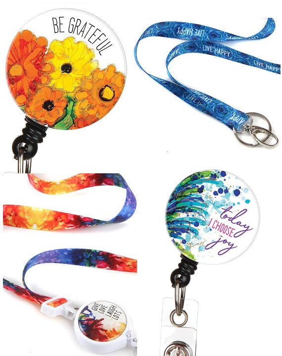 Bonitas Lanyards and ID Badge Clips Lovitude Soul Paintings available now